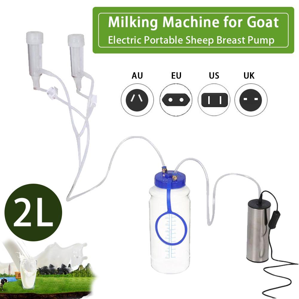 Портативный Электрический молокоотсос для овец из нержавеющей стали + силикона + пластика, небольшой доильный аппарат, 2л для домашнего доил... - 2