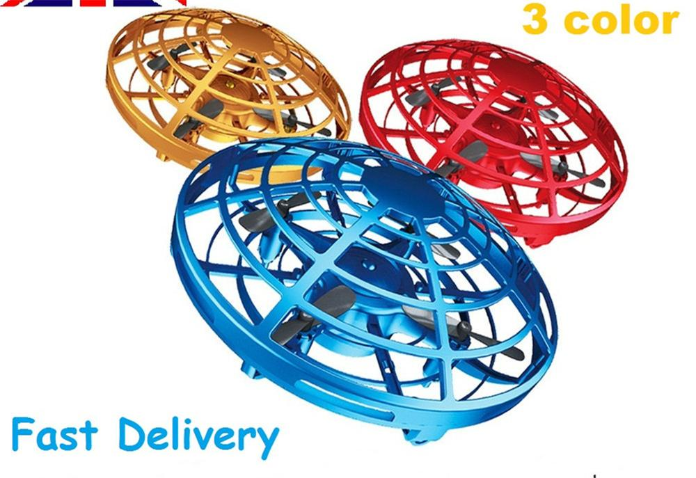 Mini Drone Induction Aircraft Quadcopter UFO Helicopter Flying Ball Aircraft Sensing Flying Electric Electronic Toy For Kids