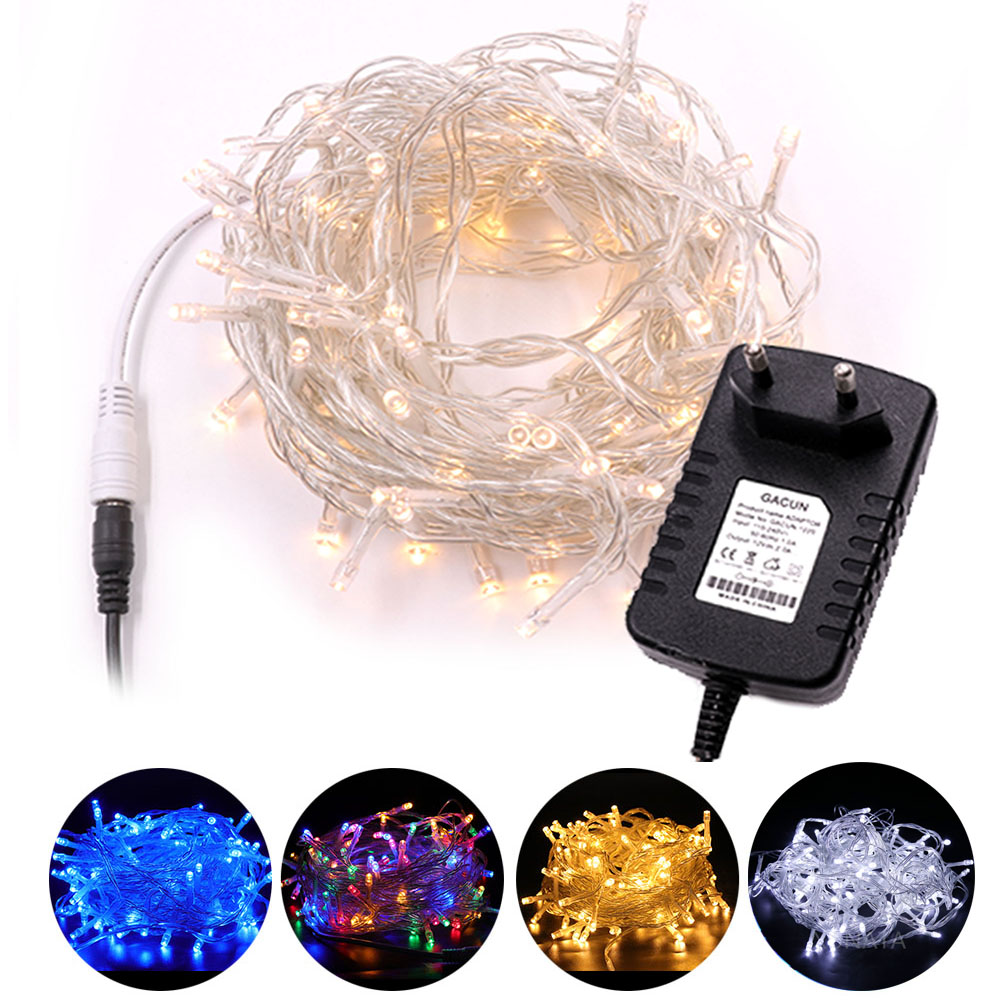 USB Fairy String Lights Micro Rice Wire Silver Wire Party Xmas Lamp Garland Fairy Light Christmas Tree Wedding Party Decoration