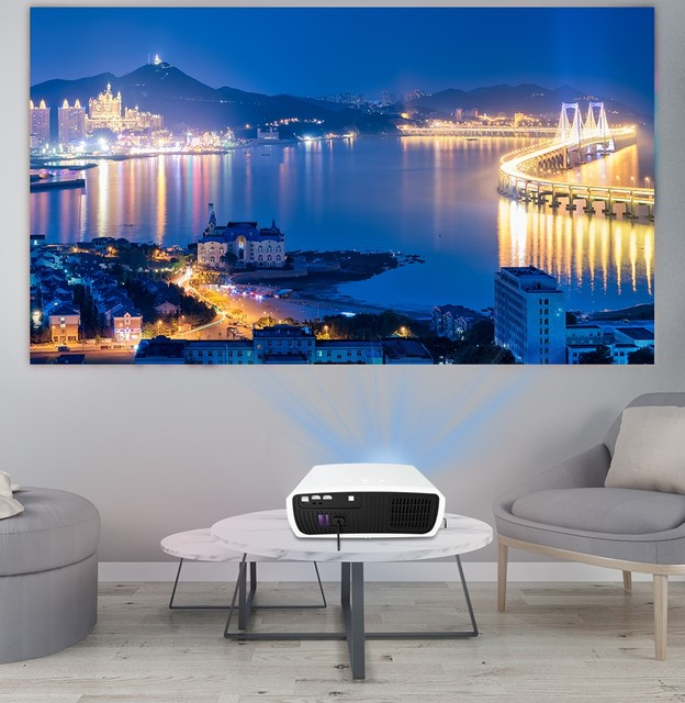 WZATCO C3 4K Full HD 1080P LED Projector Android 10 Wifi Smart Home Theater projector 20A