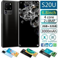 Global Version S20 U Android 9.0 Smartphone 6.8inch Cellphone Dual SIM Mobile phone 3G 2GB RAM 32GB ROM Face unlock handset