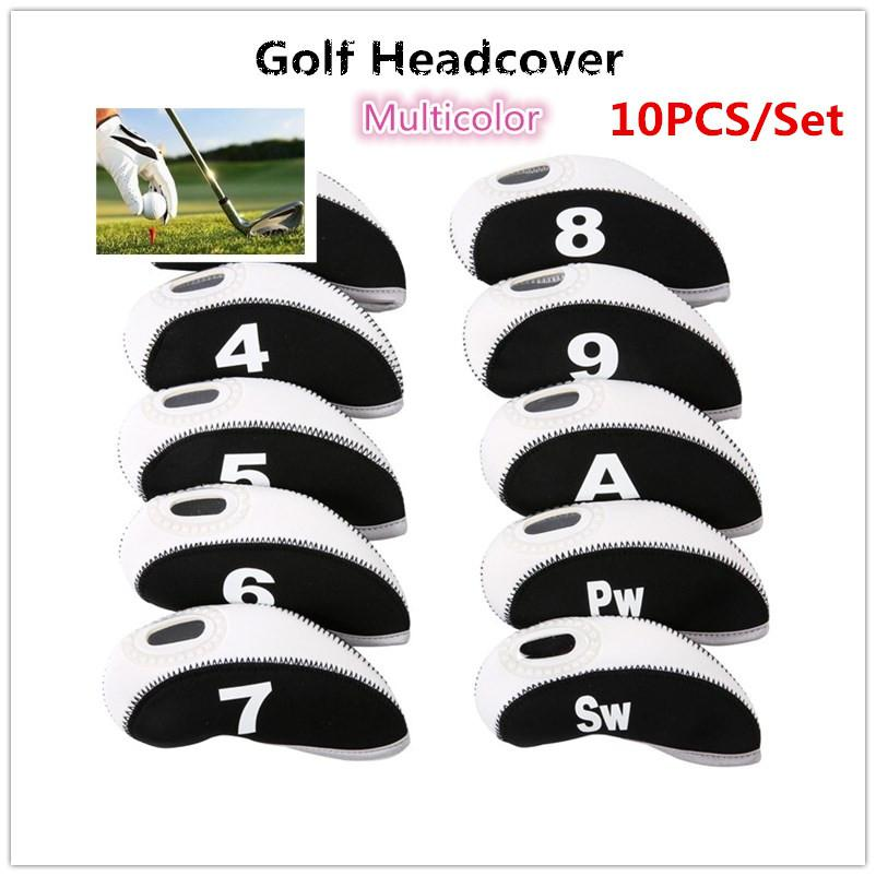 HobbyLane 10pcs/set Number Pattern Golf Iron Rod Head Covers Protector Golf Rod Sleeve Accessories