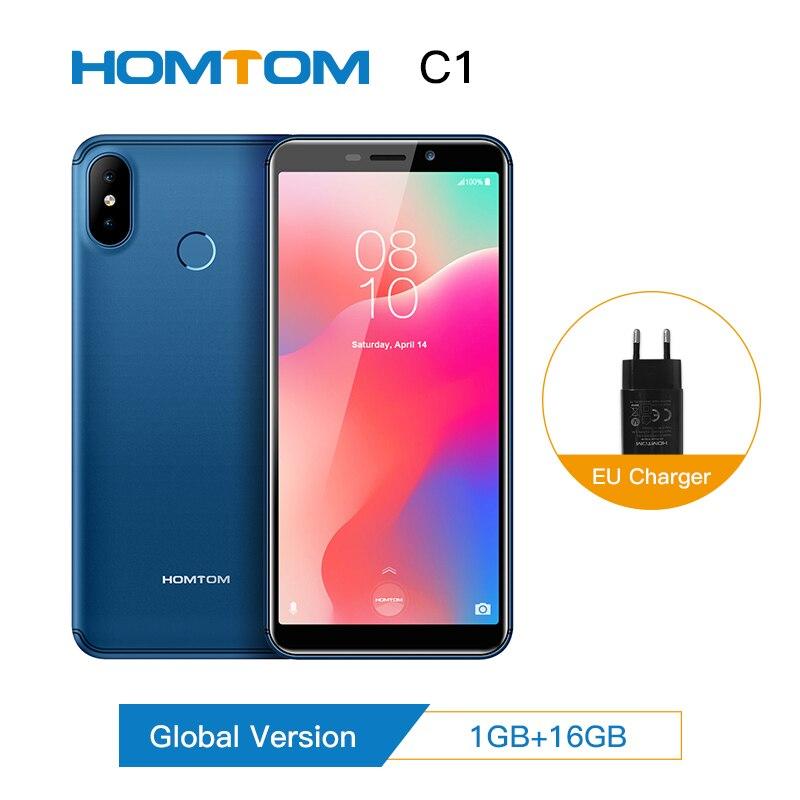 Original Global Version HOMTOM C1 Smartphone Android 8.1 Camera Fingerprint 16GB 5.5 Inch Mobile Phone Full Display 13MP 18:9 Di