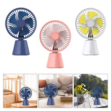 Portable Desktop Round Mini Air Cooler Fan Small Personal Cooling Tools for Home Office Outdoor Travel Summer Appliances