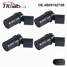 PDC Parking 4 Sensors For Audi A4 A6 Allroad 4BH C5 A4 Convertible 8H7 B6 8HE B7 NEW Anti Radar Detector 4pcs/lot 4B0919275B 9653139777 parking sensor pdc for peugeot 307 hatchback 3a 3c break 3e cc convertible 3b 308 sw 3h estate citroen c8 anti radar
