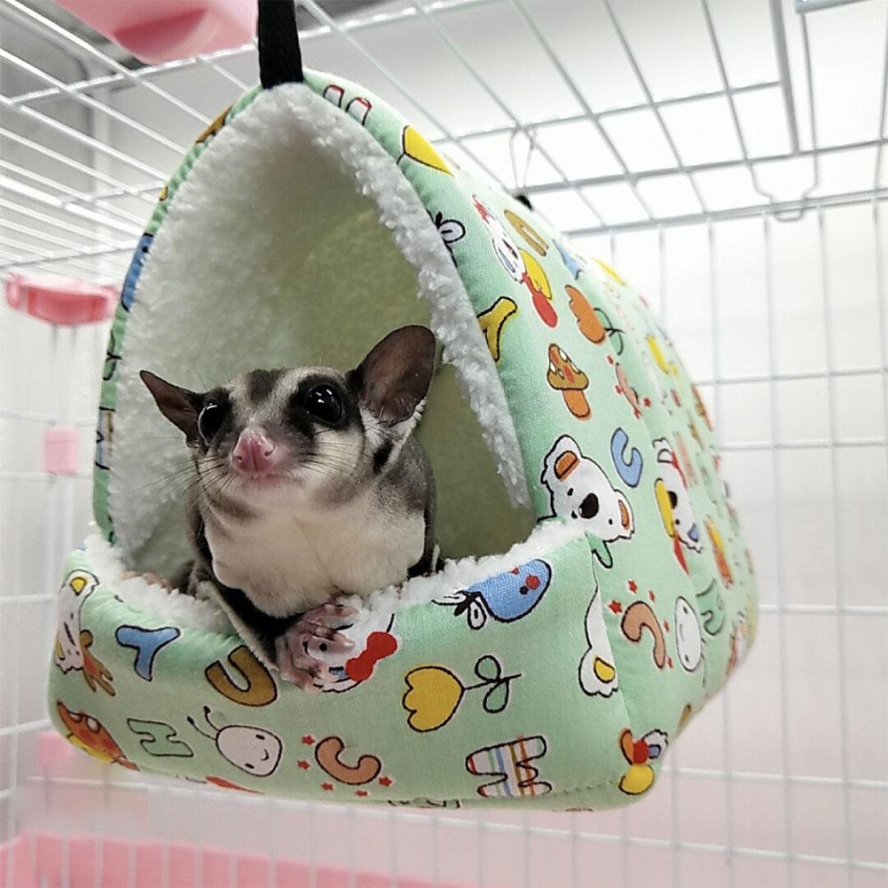 Warm Hamster Hammock Hanging Bed House Winter Cute Small Animal Squirrel <font><b>Guinea</b></font> <font><b>Pig</b></font> Double-layer <font><b>Plush</b></font> Cotton Nest Pet Supplies image