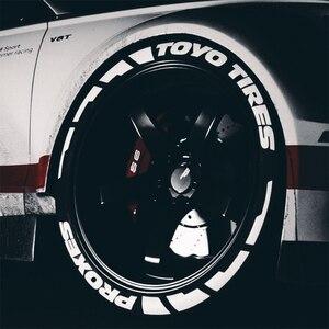 Image 3 - Zekstar 7 cor 3d decalques adesivos pvc pneu tuning decalque universal roda auto bicicleta etiqueta do pneu letras com acessórios para carro
