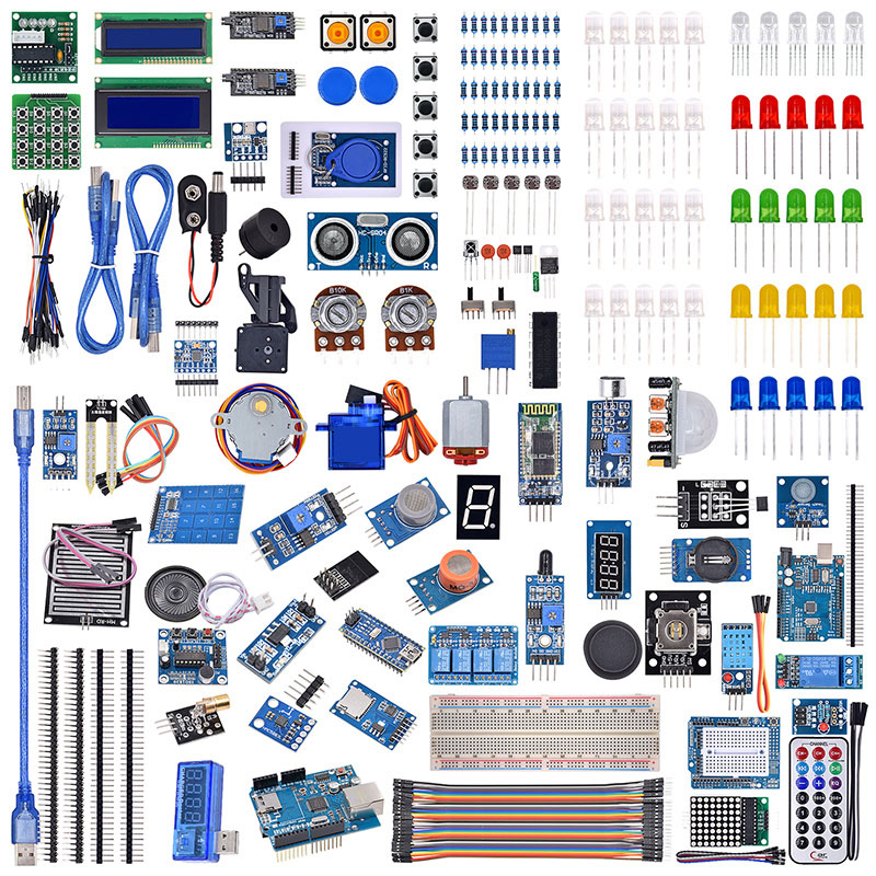 R3 LCD Sensor Wifi Bluetooth Laser Beginner Starter Kit For Arduino