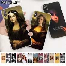 MaiYaCa-funda de teléfono para iphone SE 2020 11 pro 8 7 66S Plus X XS MAX 5S SE XR, modelo Sexy, Lana Del Rey, Mona Lisa