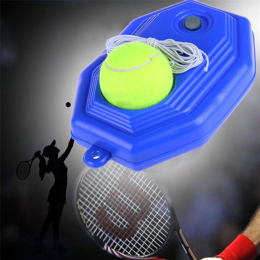 Singles Tennis Trainer Training Practice Ball Back Base Trainer Tools + Tennis Base Self-Study Beginners Trainers Accessories