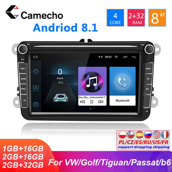 Camecho 2 din Android Car Radio For VW/Volkswagen/Golf 5/Polo/Tiguan2012/Passat/b7/b6/leon/Skoda/Octavia GPS Multimedia Player image