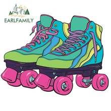 EARLFAMILY 13cm x 9.8cm For Roller Skate Car Stickers Vinyl Decal Occlusion Scratch Sticker For Car Trunk Laptop JDM ATV