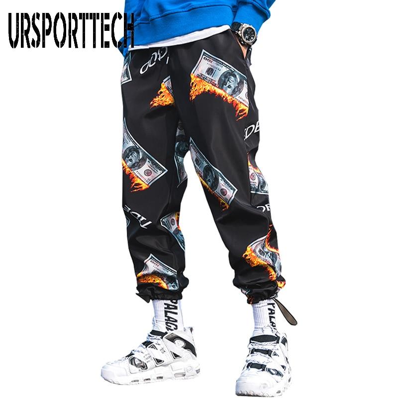 New Fashion Casual Printed Men Harem Pants Hip Hop Streetwear Joggers Men 2020 Summer Fashion Elastic Waist Trousers MP29820