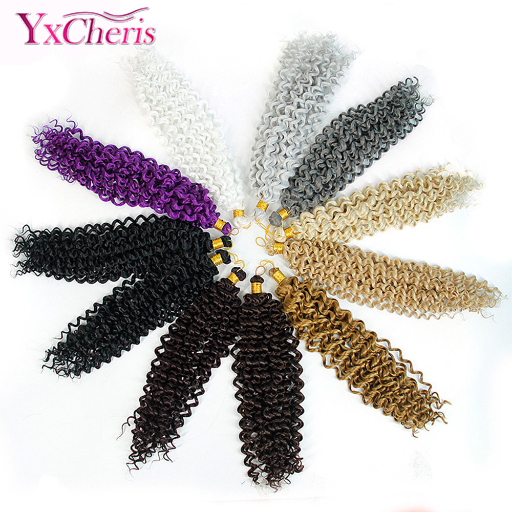 Braiding Hair Extensions Water Wave Braids Blonde 613 Bundles Freetress Afro Synthetic Kinky Twist Crochet Hair Bulk YxCheris