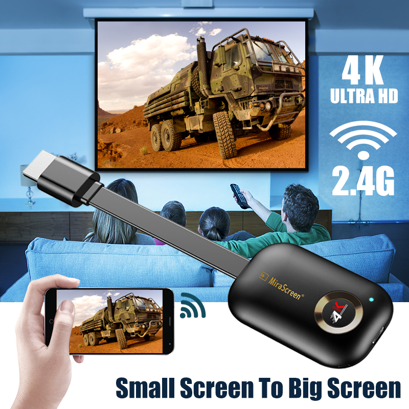 tv stick Mirascreen G9 Plus 5G 4K Wireless for HDMI for Android fire for airplay for netflix for Miracast Wifi Dongle mirror image