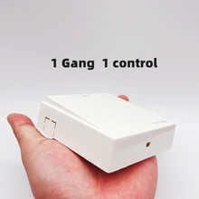 1ps 86x86mm bridge plate ship type wall switch 1/2/ 3/4 gang 10A 250v White 86 surface mounted power switch button panel home