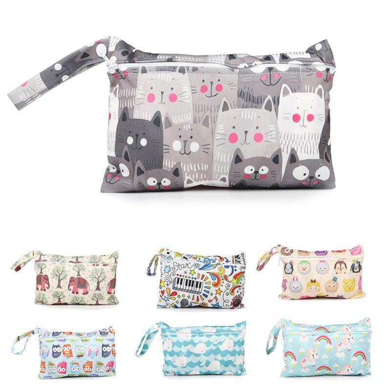 Baby Diaper Bag Waterproof Baby Storage Bag Reusable Convenient Safe Outdoor Travel Zipper Baby Stroller Bags Cartoon Care Bags