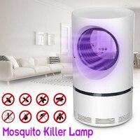 Светодиодная лампа для уничтожения комаров, УФ ночник, USB, насекомые, Zapper, москитная ловушка, электрическая фоткаталитическая отпугивающая ...