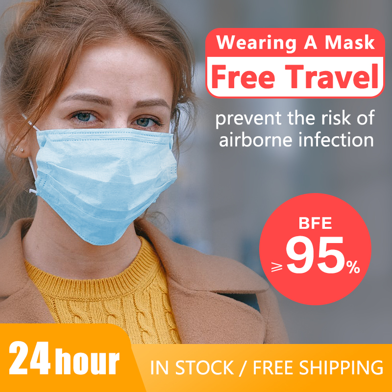 Masks 50/100 Pcs/lot New Disposable Mask 3 Layers Face Mask Filter Mouth Powder Masks Fine Dust Mask In Stock Mouth Mask