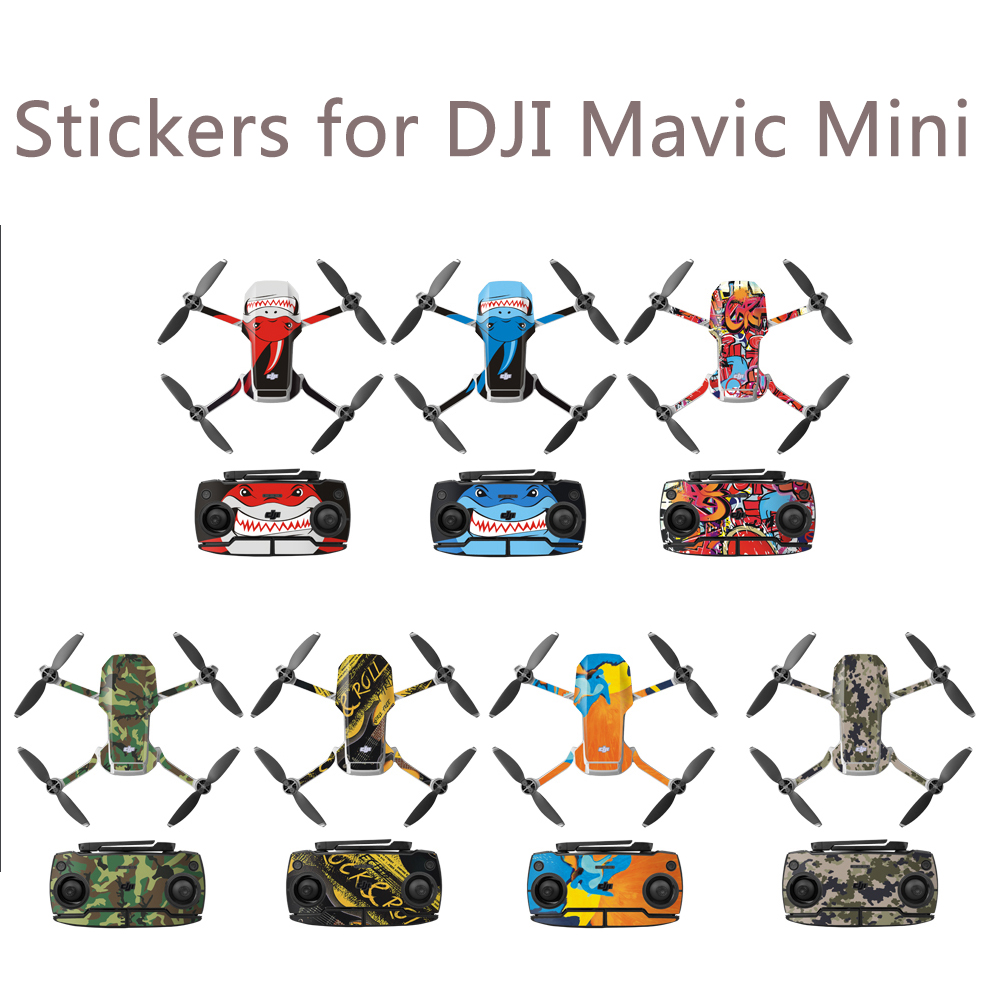 Protective Film PVC Stickers For Mavic Mini Remote Controller Waterproof Scratch-proof Decals Full Cover Skin Accessories