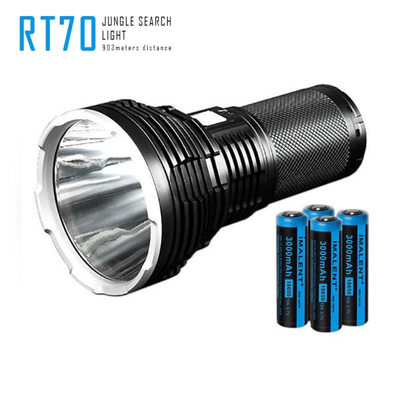 Original Imalent RT70 LED Flashlight Cree XHP70 2nd Generation LED USB Rechargeable Torch Flashlight By 4X 18650 3000mah Battery
