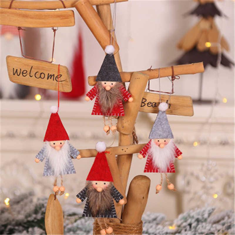 Nowy rok 2020 boże narodzenie śliczne jedwabne pluszowe lalka anioł świąteczne dekoracje dla domu 2019 prezenty dla dzieci bożonarodzeniowe ozdoby choinkowe 1/2/4 sztuk