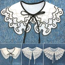 Женский съемный поддельный аппликация рубашка воротник бант галстук шаль одежда аксессуары