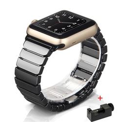 Keramik Uhr Strap für Apple Uhr Band 42mm 38mm 1/2/3 Smart Uhr Armband Keramik Uhrenarmbänder für iWatch Serie 5 4 40mm 44mm