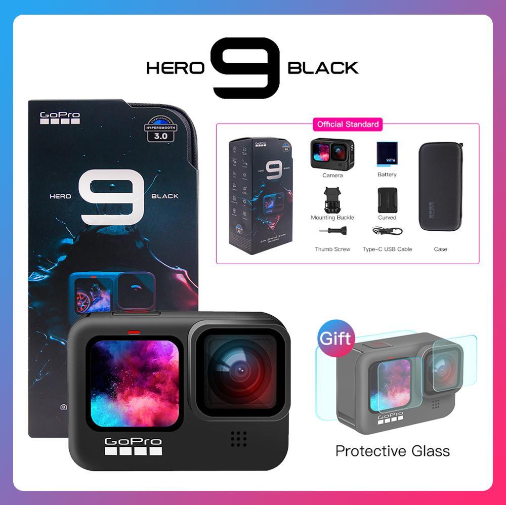 GoPro HERO9 Cámara de Acción subacuática negra 5K 4K con pantalla frontal a Color, cámara deportiva fotos de 20MP, transmisión en vivo Go Pro HERO 9
