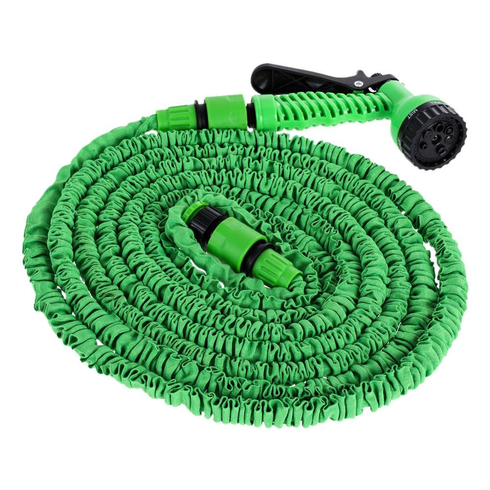 25FT-200FT Garden Hose Pipe With Spray Gun Expandable Flexible Water Sprayer To Watering Car Wash Spray Nozzle Gun Plastic Hose