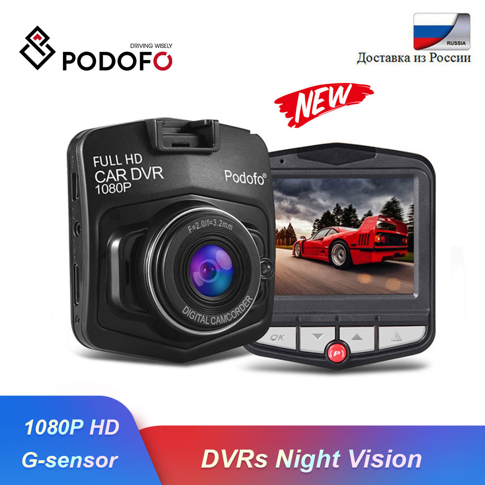 Podofo Full HD 1080P Mini Car DVR Camera Dash Camera Video Registrator Recorder G sensor Night Vision Dash Cam Driving Recorder|DVR/Dash Camera| - AliExpress