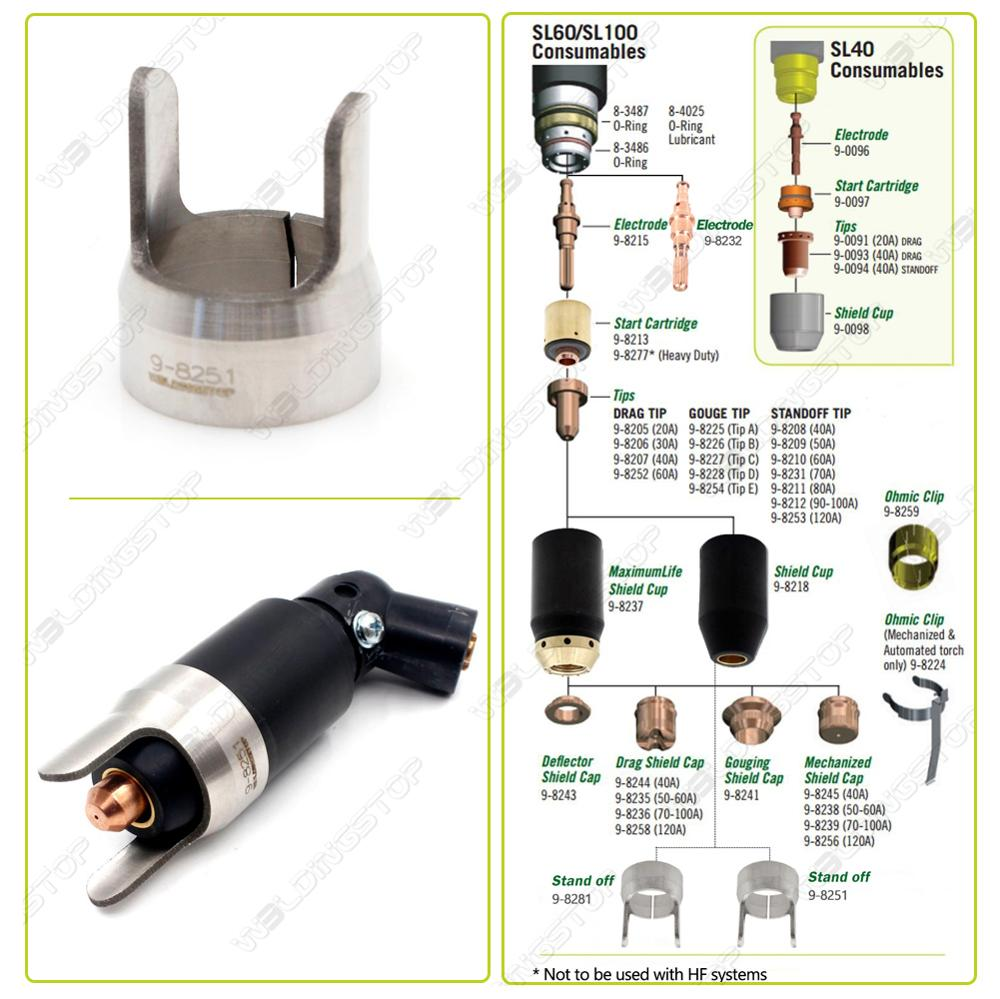 Купить с кэшбэком 9-8251 Stand off Guide Fit Thermal Dynamics SL60 SL100 Plasma Cutting Torch WS