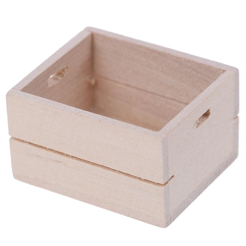 1:12 Dollhouse Miniature Wooden Vegetable Fruits Basket Furniture Accessories DIY Stimunaiton Kitchen Toys