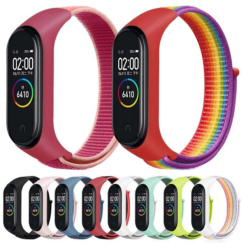 Nylon Strap For Xiaomi Mi Band 4 Bracelet NFC Smart Watch Replacement Xiaomi Mi Band 3 Colorful Strap Anti-lost Wristband