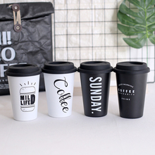 Coffee Mugs Thickened Stainless Steel Tea Cups Big Travel Mug Camping Cup With Lid Straws 450ml