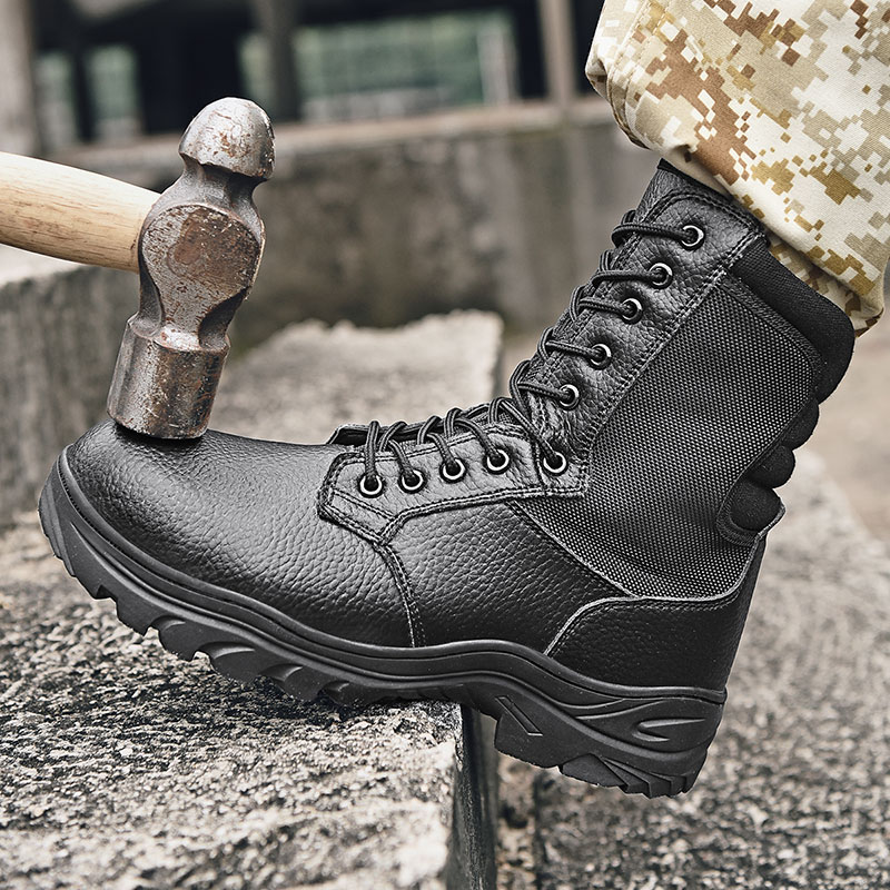 New Cool Hiking Camping Shoe Men Black Brown Man Mountain Climbing Shoes High Top Trekking Hiking Shoes Lace Up Outdoor Trainers in Hiking Shoes from Sports Entertainment