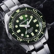 ساعة يد رجالية أوتوماتيكية غواص من الفولاذ المقاوم للصدأ بطول 300 متر مقاومة للماء مزودة بحزام من السيراميك طراز SBDX001 ساعة يد عصرية لامعة