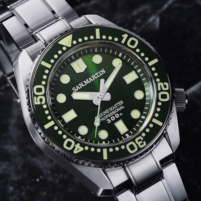 Hommes automatique plongeur montre en acier inoxydable montre 300m résistant à l'eau requin SBDX001 céramique lunette Luminou main mode montre-bracelet