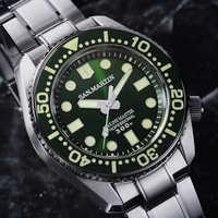 Männer Automatische Taucher Uhr Edelstahl Uhr 300m Wasserdicht Shark SBDX001 Keramik lünette Luminou hand Mode Armbanduhr