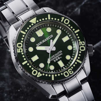 Men Automatic Diver Watch Stainless Steel Watch 300m Water Resistant Shark SBDX001 Ceramic bezel Luminou hand Fashion Wristwatch - DISCOUNT ITEM  14% OFF All Category