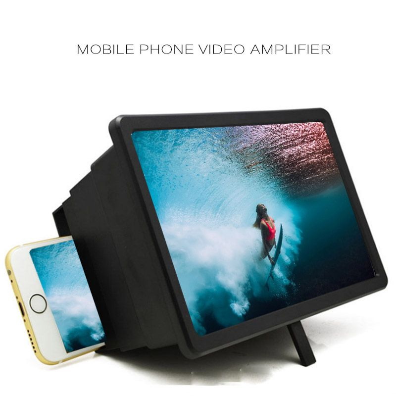 Best quality 3D HD Movie Video Amplifier With Foldable Holder Stand Cell Phone Screen Magnifier image