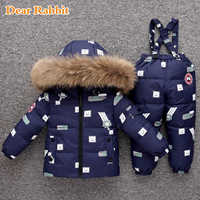 2019 new Winter down jacket children clothing set baby toddler girl kids clothes for boy parka Thicken coat snow wear ski suit
