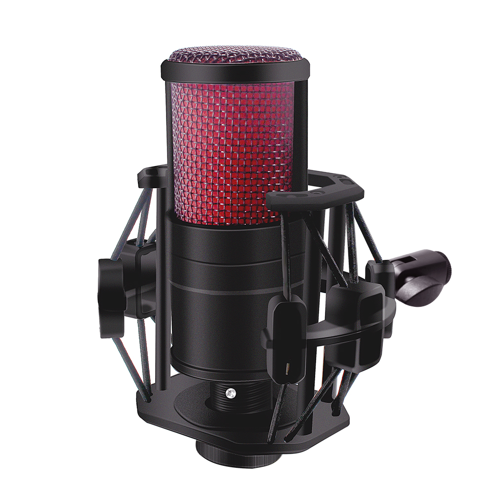 V500 Condenser Microphone For Smart Phone&Laptop 3.5MM Directly Used With Strong Holder Recording Device Phone Microphone
