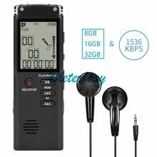 8GB/16GB/32GB Registratore Vocale USB Professionale 96 Ore Dittafono Digital Audio Voice Recorder Con WAV,MP3 Lettore
