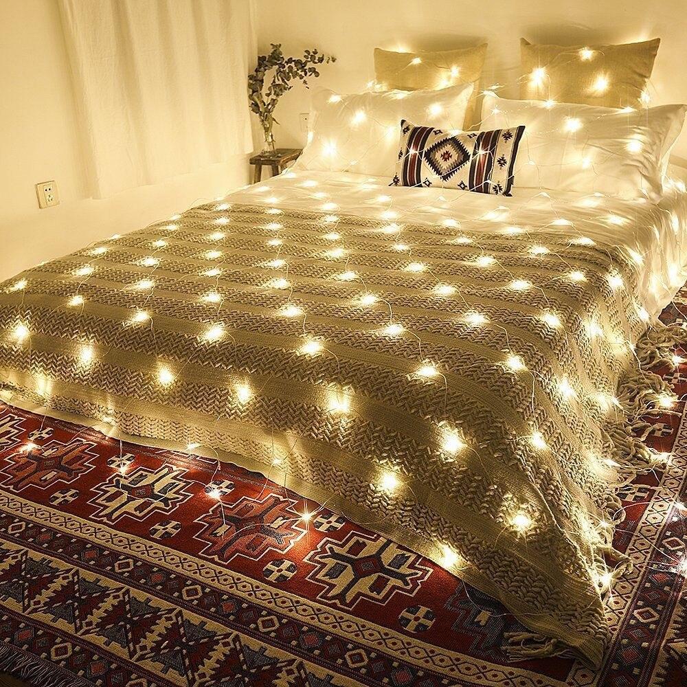 1.5M*1.5M 3M*2M 6M*4M UK LED Net lights Super bright Net Mesh String Light Christmas Lights Waterproof for Garden Wedding Decor Lighting Strings     -