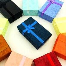 Новая модная красивая подарочная коробка для ювелирных изделий, подвеска, упаковка, чехол, дисплей для колец, серег, ожерелий, часов, органай...