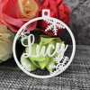 Personalized Christmas Bauble Gift Tags Custom Christmas snowflakes Ornament Ball Wooden Ornament Ball