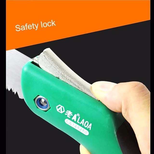 LAOA Portable Folding Saw 7T/12T Hand Saw 250mm Pruning Shears Serra Gardening Tool Hunting Implement 5