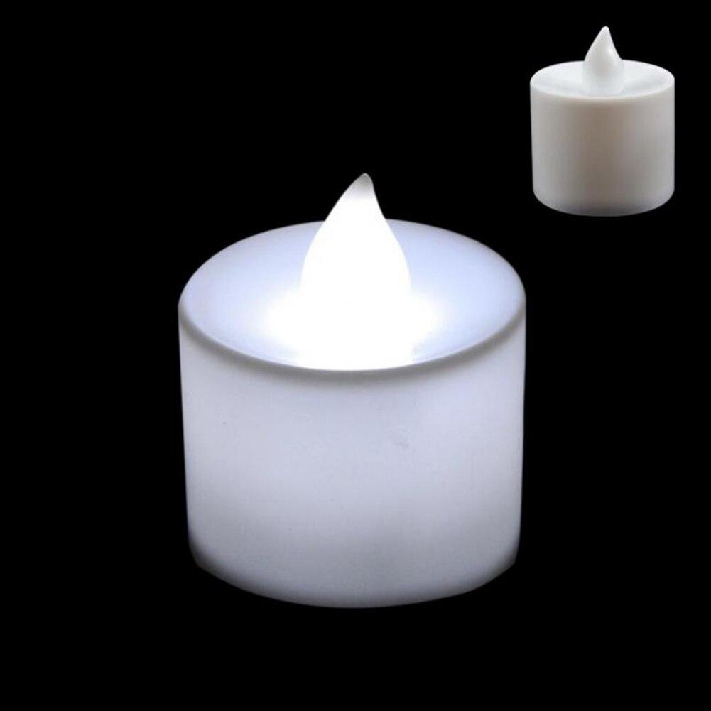 1 шт. Креативный светодиодный многоцветная Лампа-свеча имитация цвета пламени для дома, свадьбы, дня рождения, фестивальные декорации - Цвет: Белый