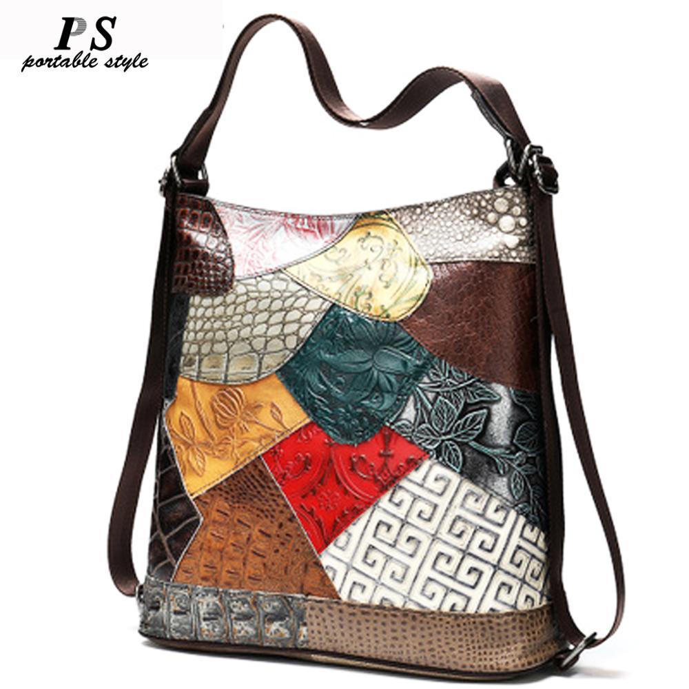 Vintage Women Backpack 100% Genuine Leather Backpack For Laptop Female School Bag For Girls Travel Backpacks Mochila Feminine